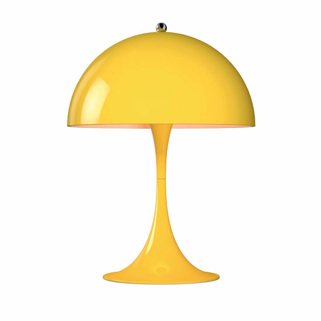 Gul bordslampa Panthella mini från Louis Poulsen