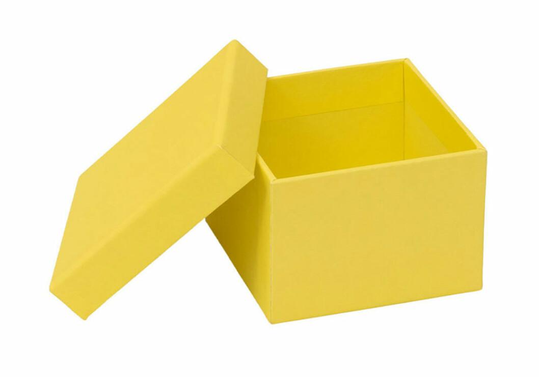 gul förvaringslåda från lagerhaus