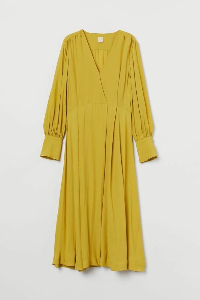 gul festklänning H&M