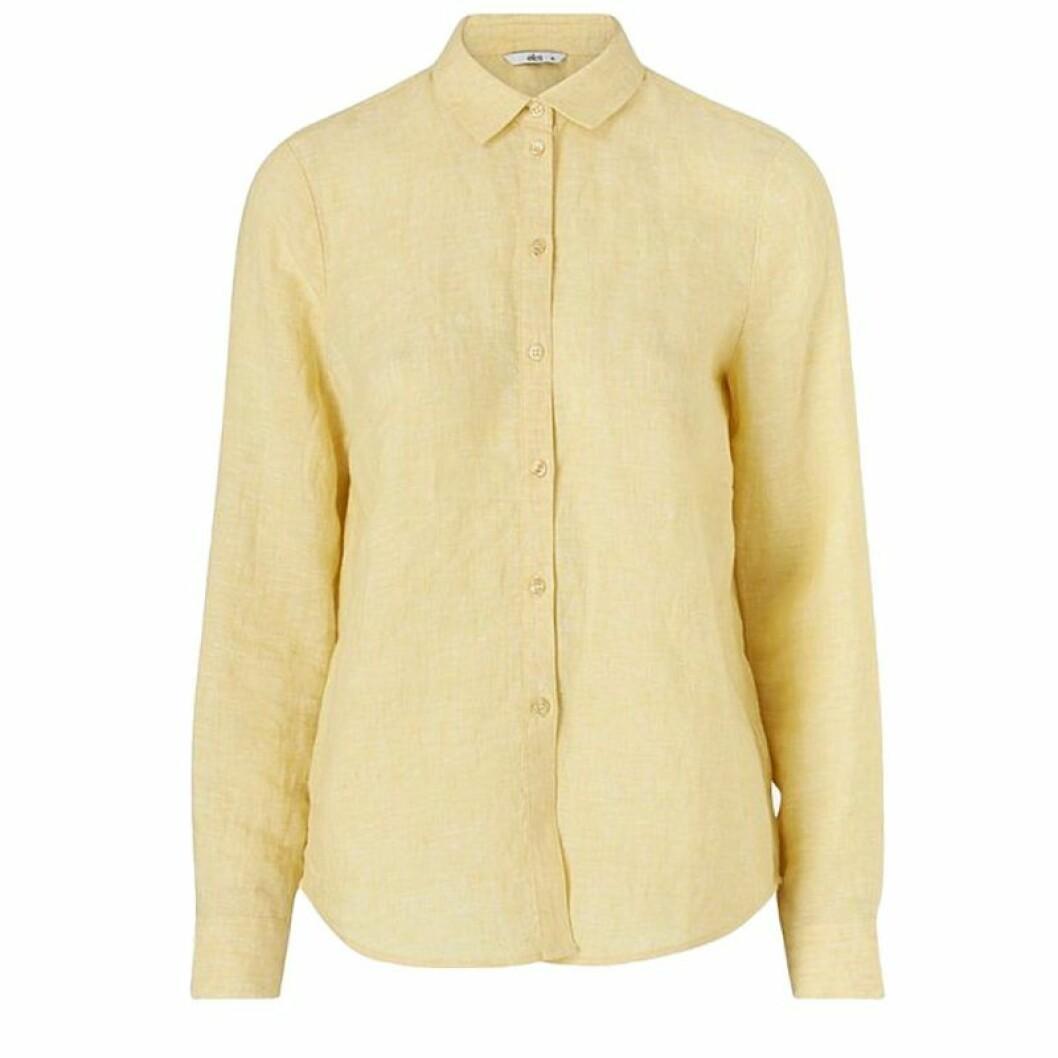 Gul linneskjorta från Ellos