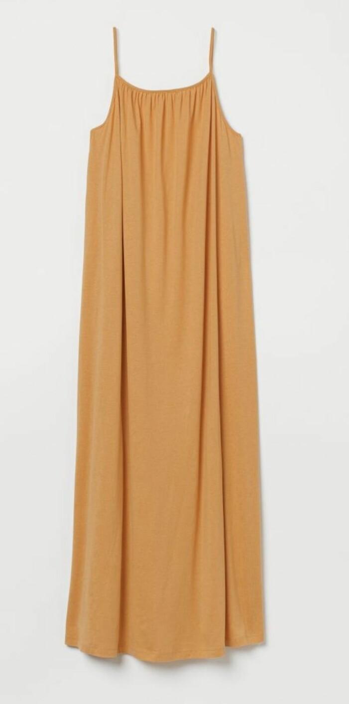 gul maxiklänning från H&M