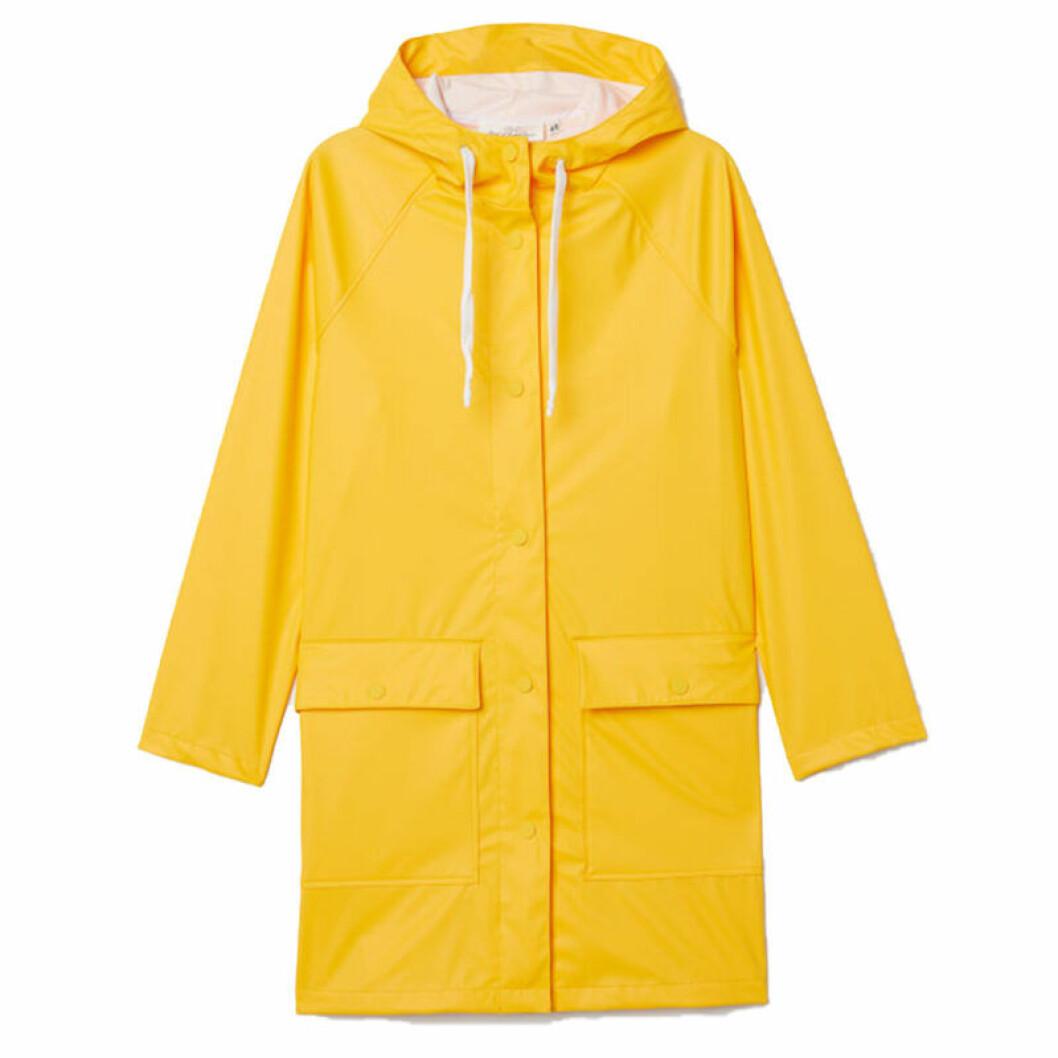 Gul regnjacka från H&M