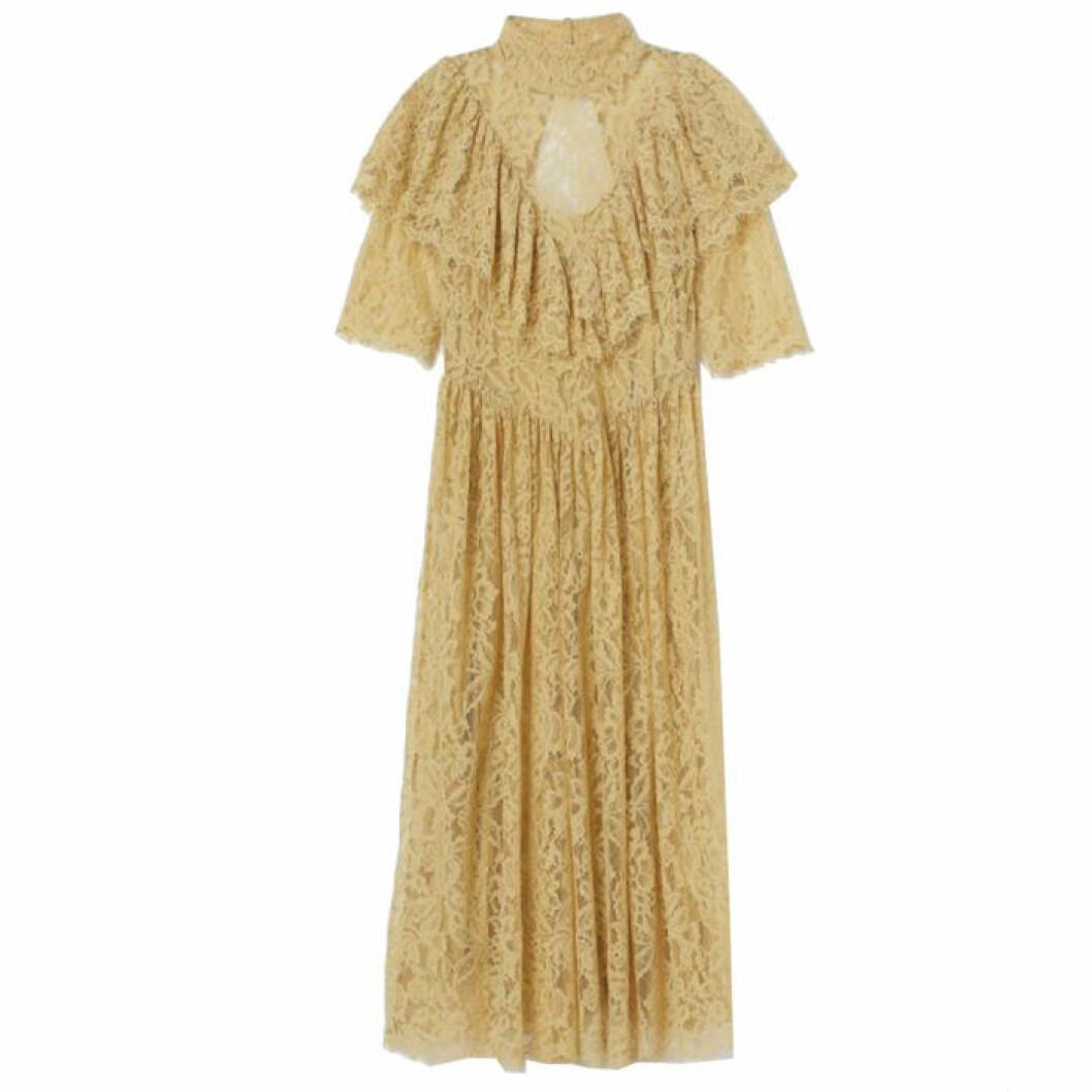 Gul spetsklänning från h&m