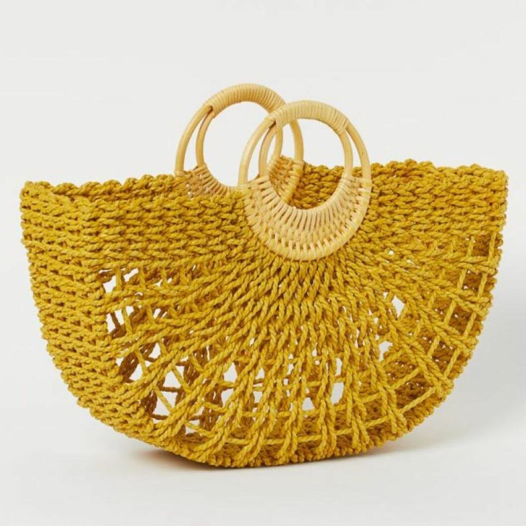 Gul stråväska från H&M