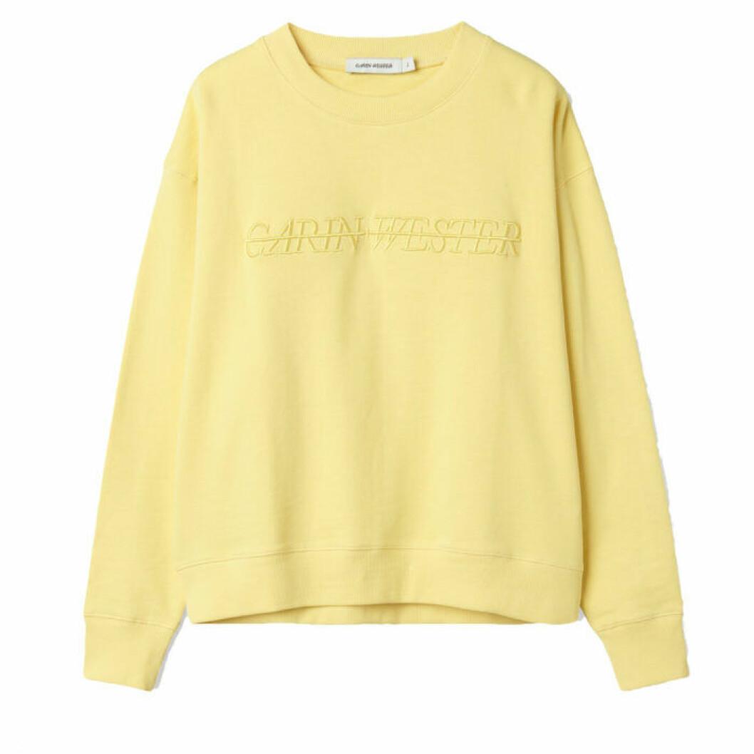 Gul sweatshirt tröja från Carin Wester