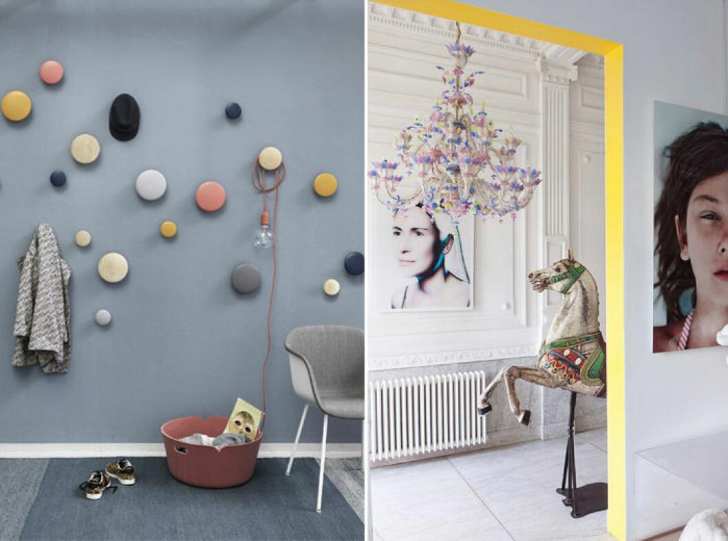 gula accenter i hallen är snyggt och trendigt 2019