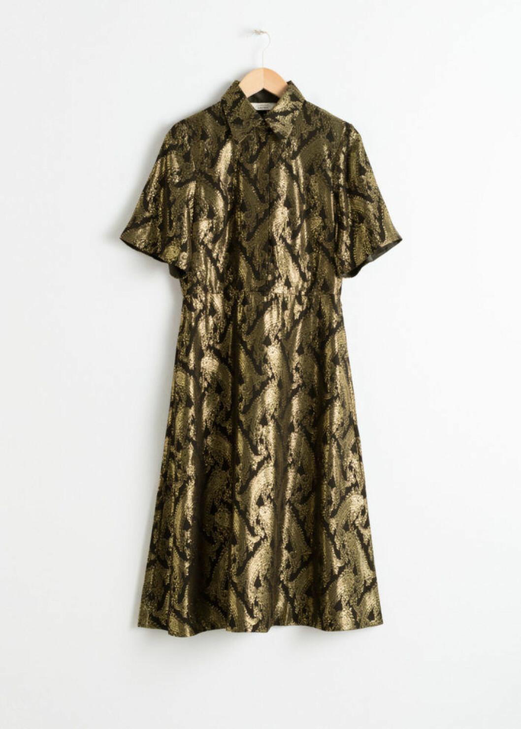 Guldig klänning från & Other Stories