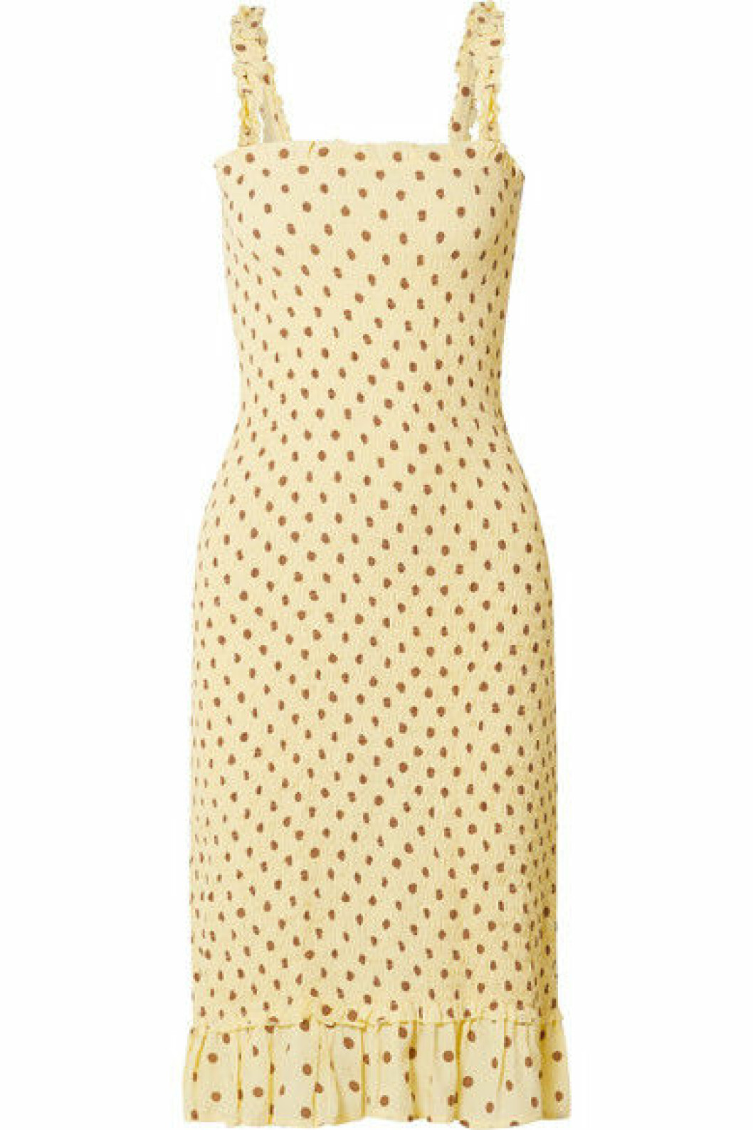Klassisk klänning i gul färg