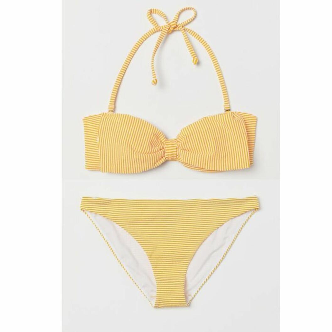 Gulrandig bikini