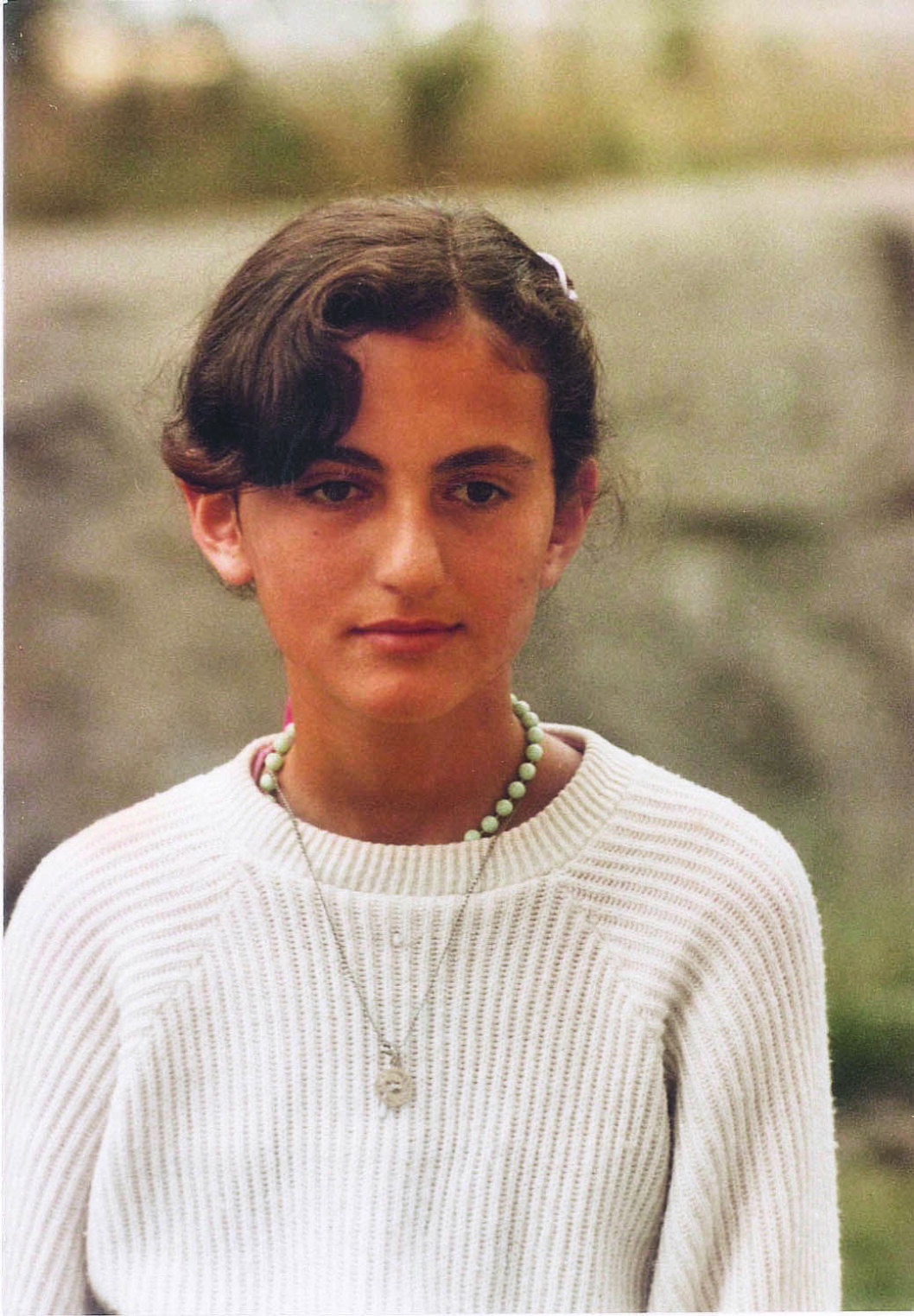 Bild på Gunilla von Platen när hon var 12 år.