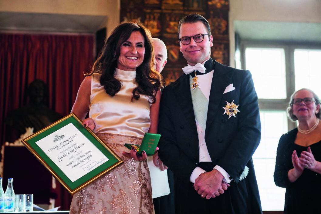 Gunilla von Platen tillsammans med prins Daniel.