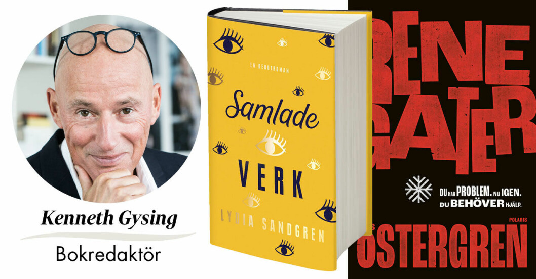 """Kenneth Gysing, Feminas bokredaktör väljer årets bästa kultur, Lydia Sandgrens """"Samlade verk"""" och Klas Östergrens """"Renegater"""""""