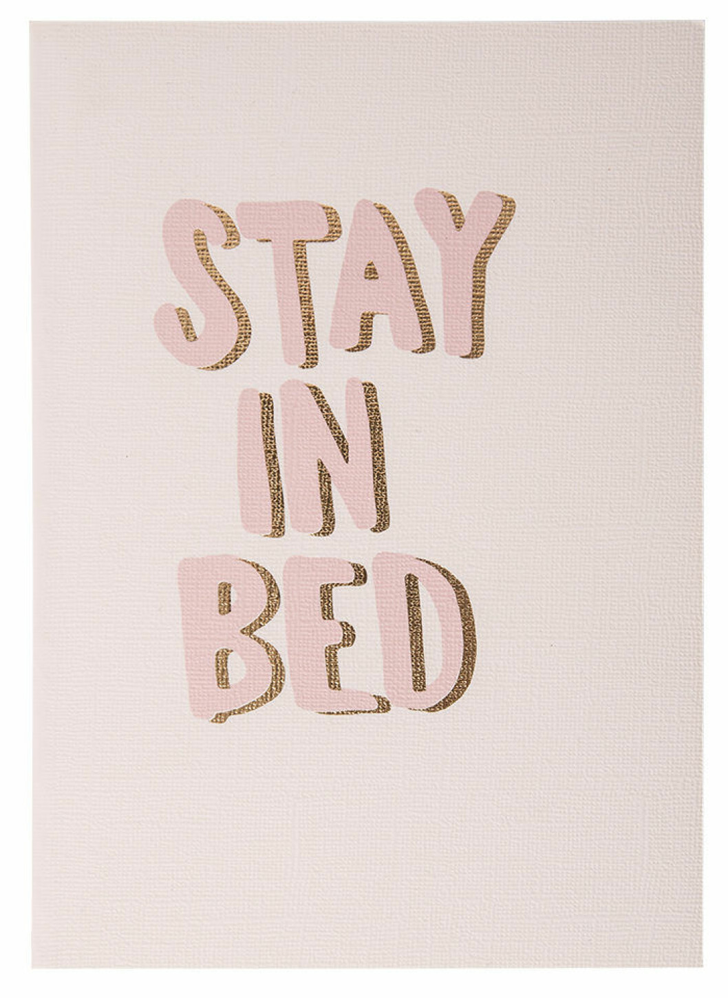 Stay in bed-anteckningsbok från Therese Lindgren + Lagerhaus