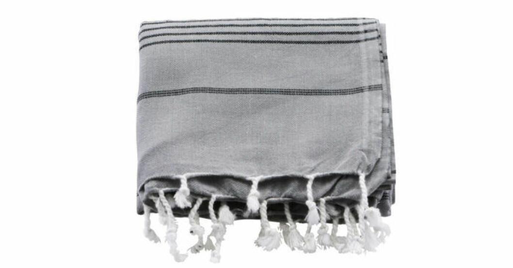 Hammam-handduk från Meraki i grått och svart