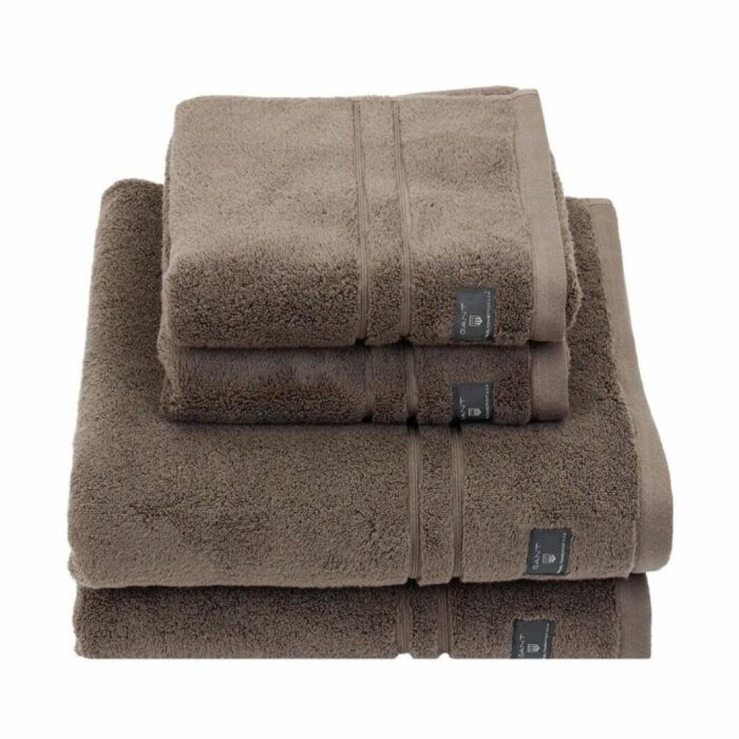 Bruna handdukar från Gant