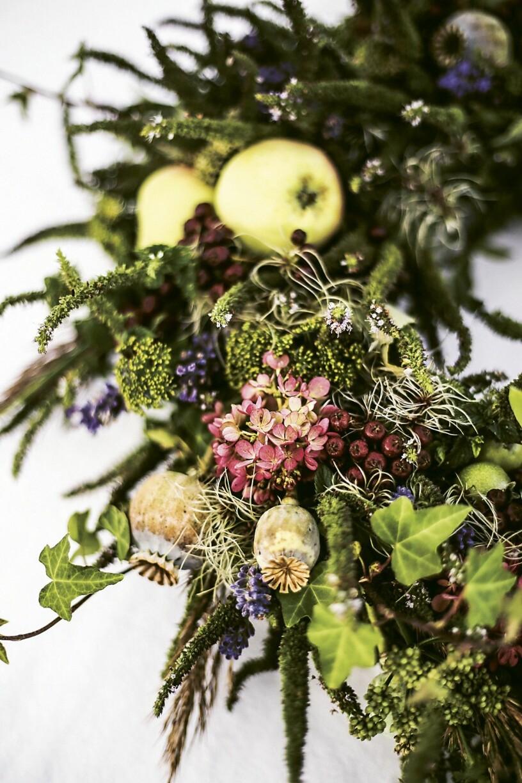 Hanna Wendelbo DIY blomsterkrans höst