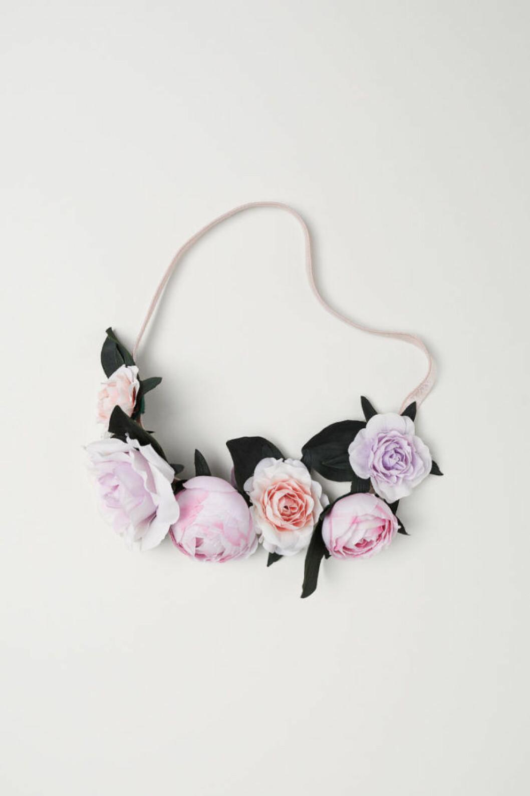 Blommigt hårband från H&M.