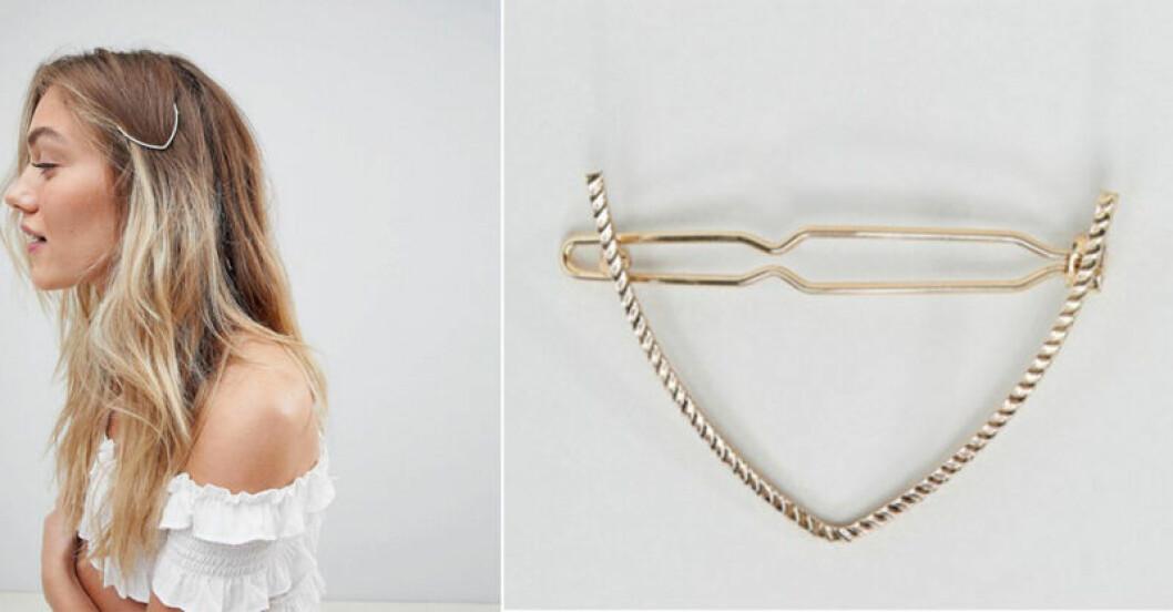 Guldigt hårspänne från Asos