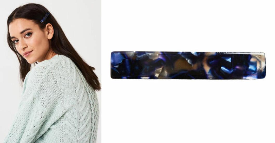 Blå hårklämma från Gina tricot