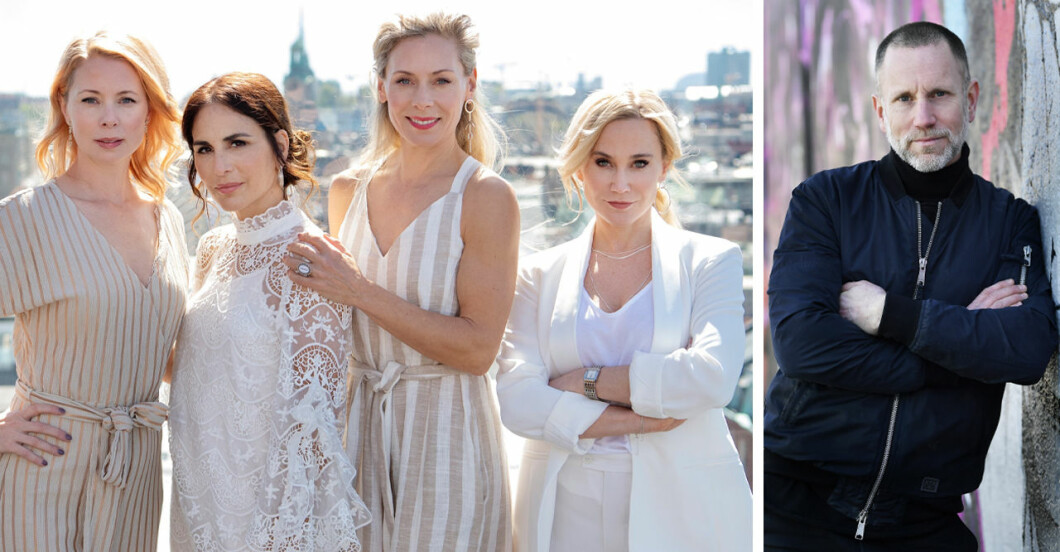 Alexandra Rapaport, Anja Lundqvist, Julia Dufvenius, Eva Röse och Peter Jihde i Heder säsong två.
