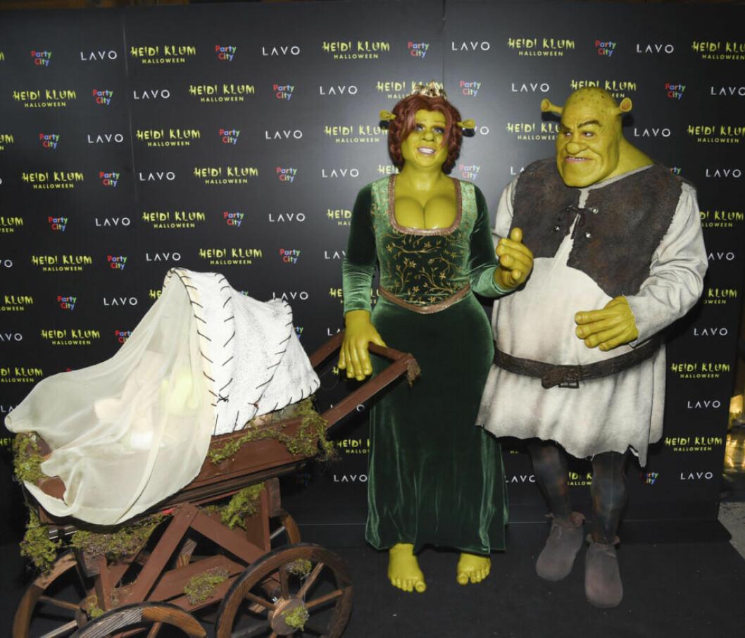 Heidi Klum och Tom Kaulitz som Shrek och Fiona