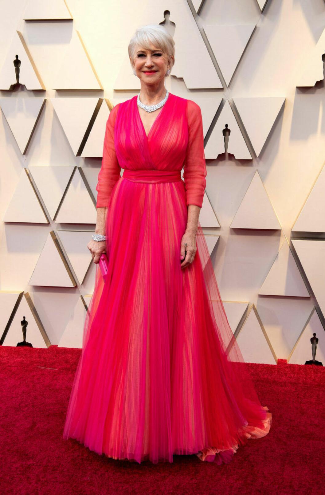 Helen Mirren på Oscarsgalan 2019