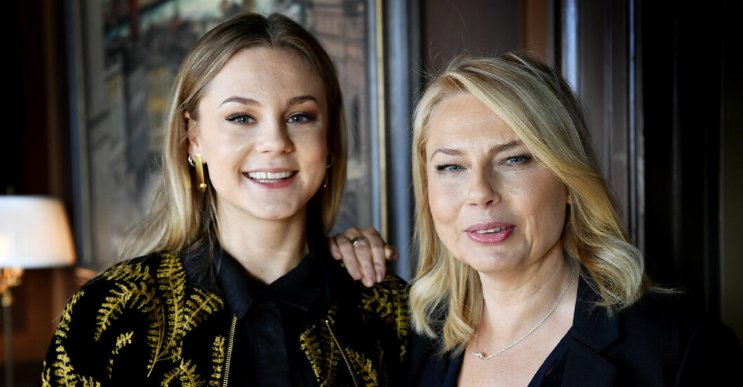 Helena Bergström om relationen med dottern Molly Nutley.