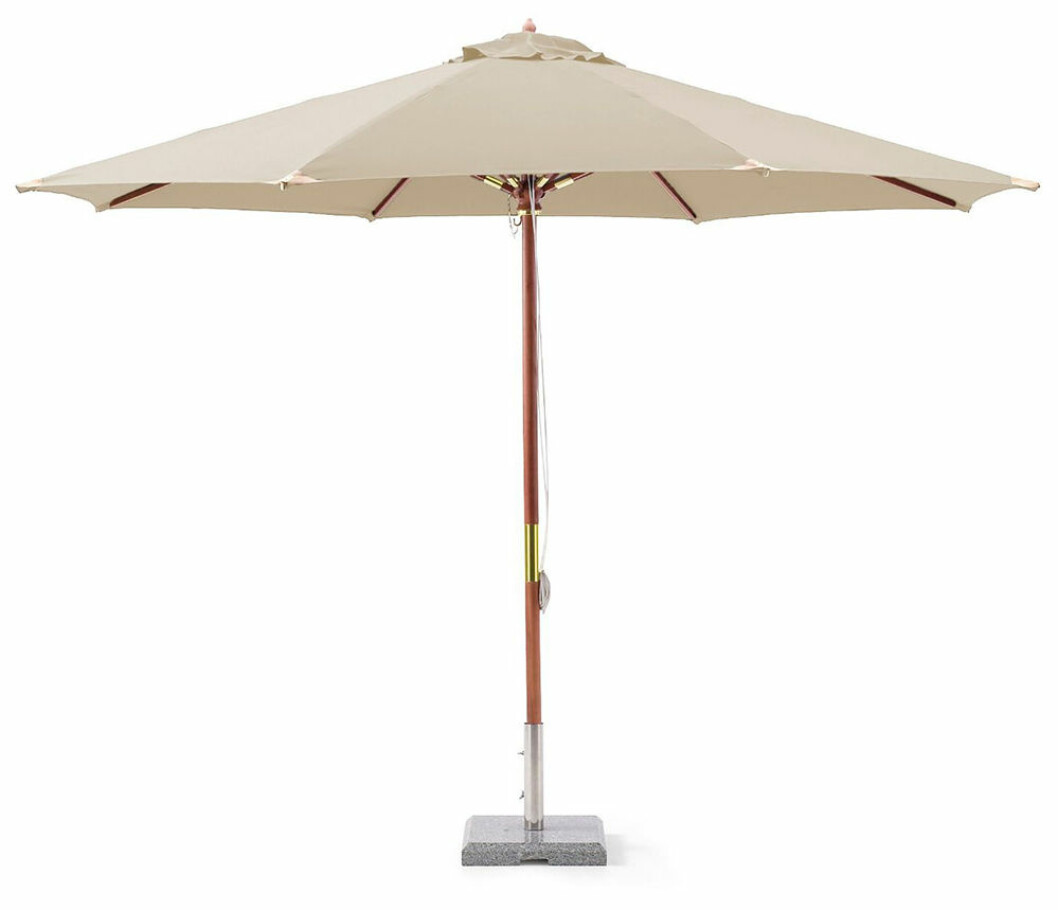 lyxigt beige parasoll från hillerstorp
