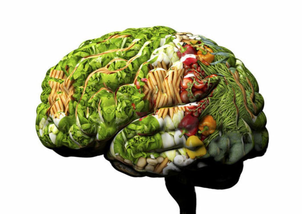 Om du matar din kropp med mycket grönsaker, frukt, nötter och fet fisk kommer också hjärnan att må bättre.
