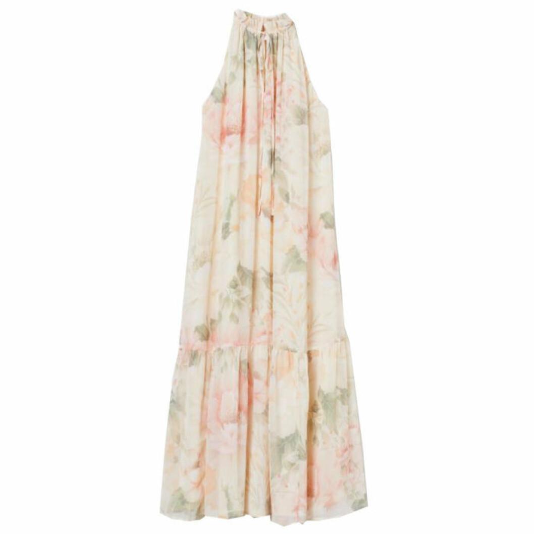 Blommig klänning i halterneck modell från H&M