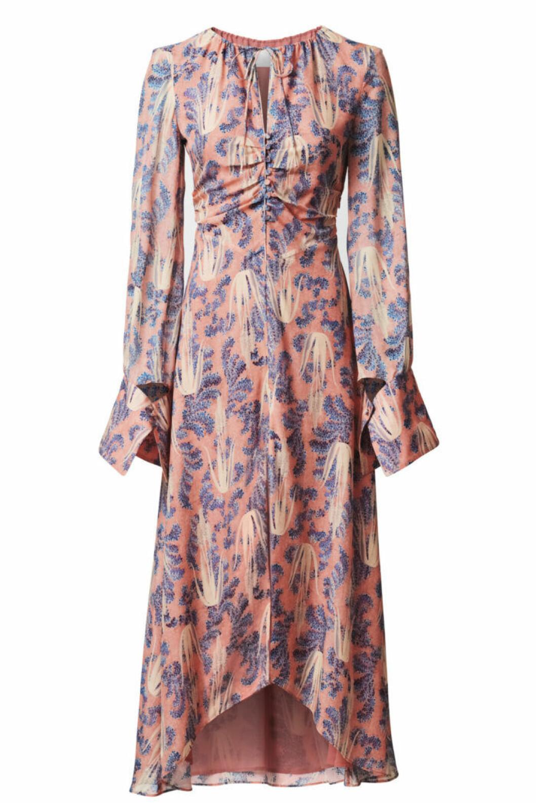 H&M Conscious Exclusive 2019 korallfärgad klänning