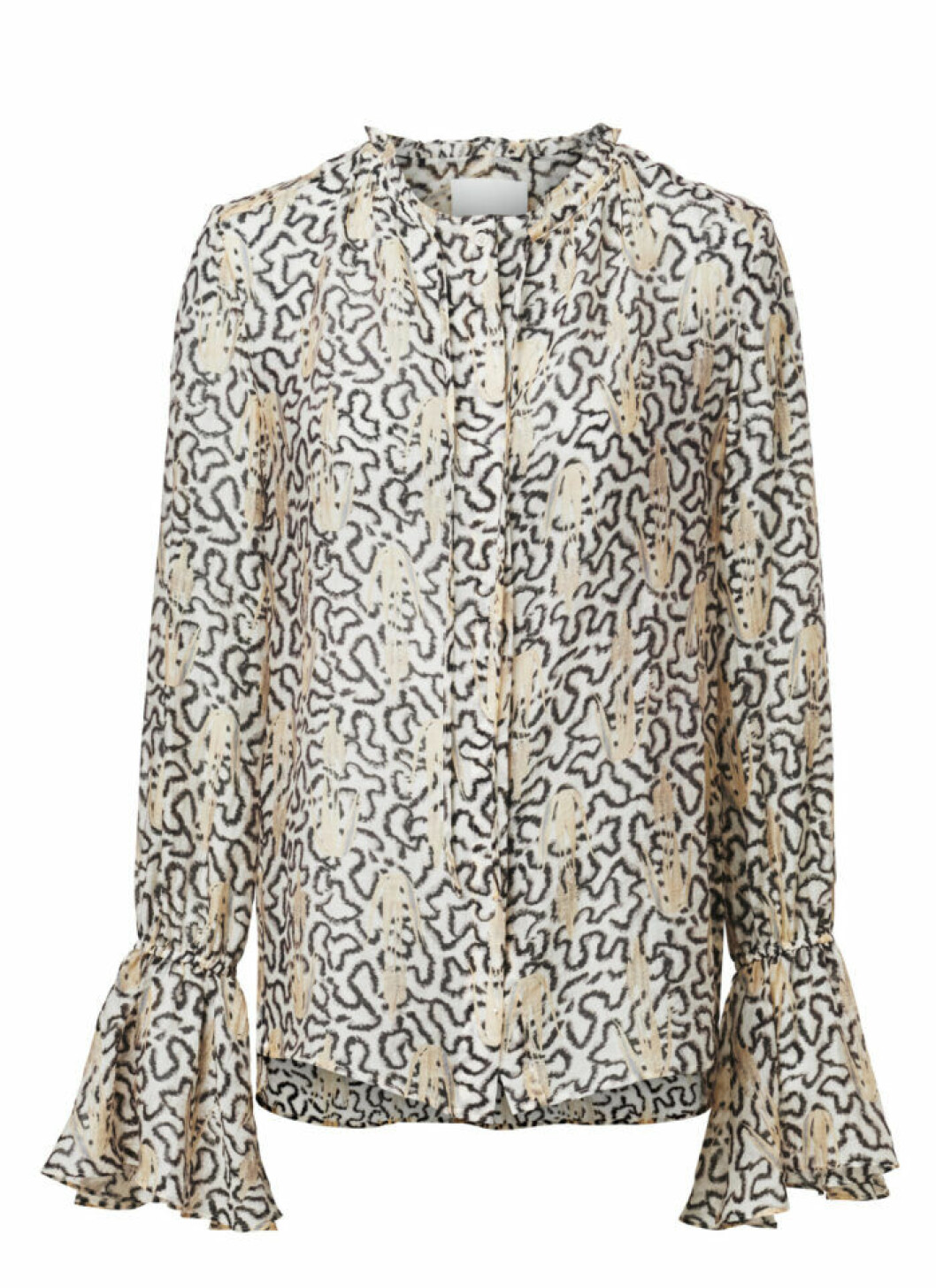 H&M Conscious Exclusive 2019 blus med volangkant nedtill