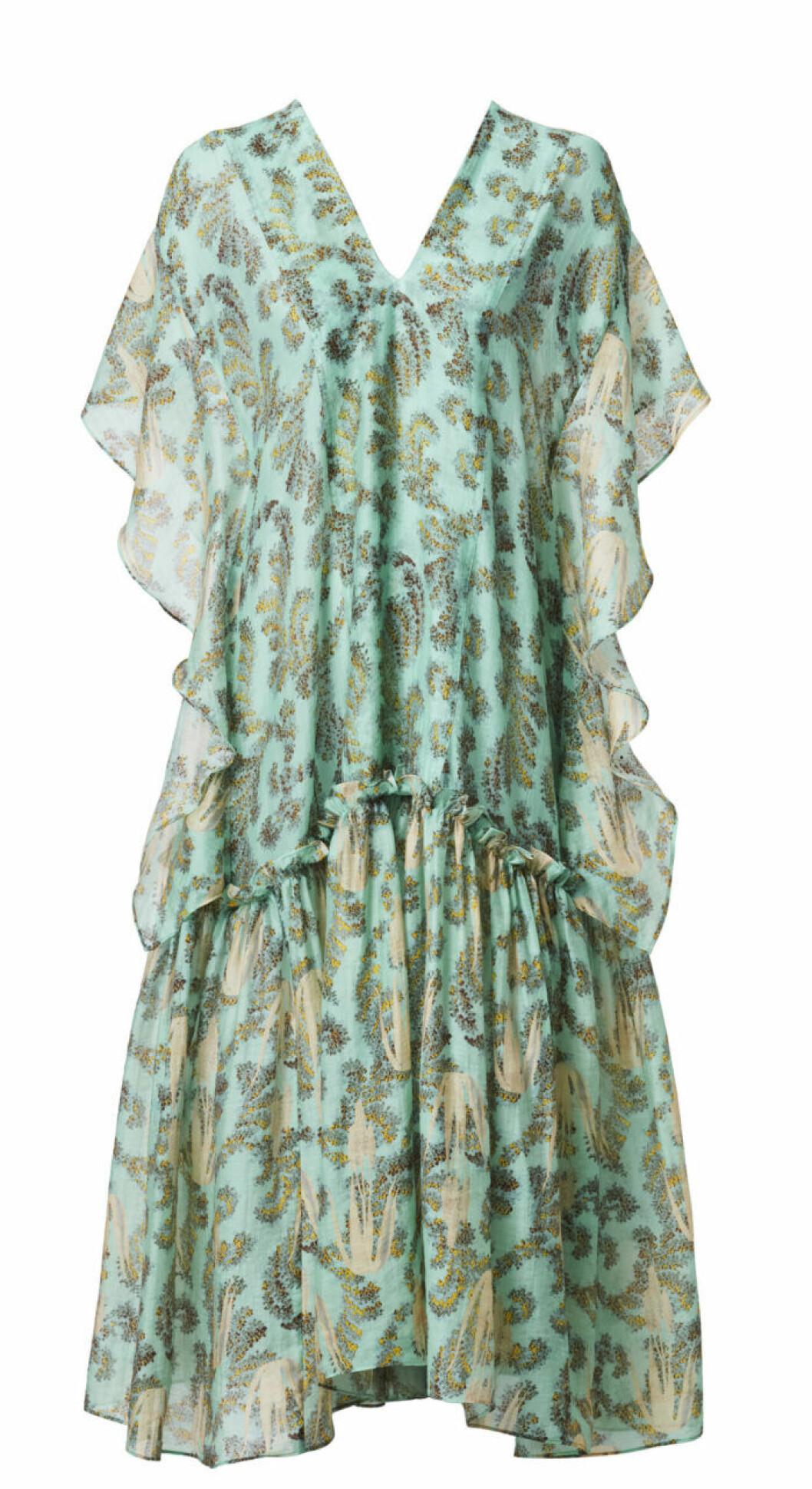 H&M Conscious Exclusive 2019 grön klänning med v-ringning
