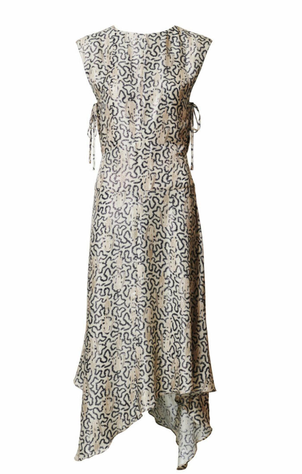 H&M Conscious Exclusive 2019 beige ärmlös klänning