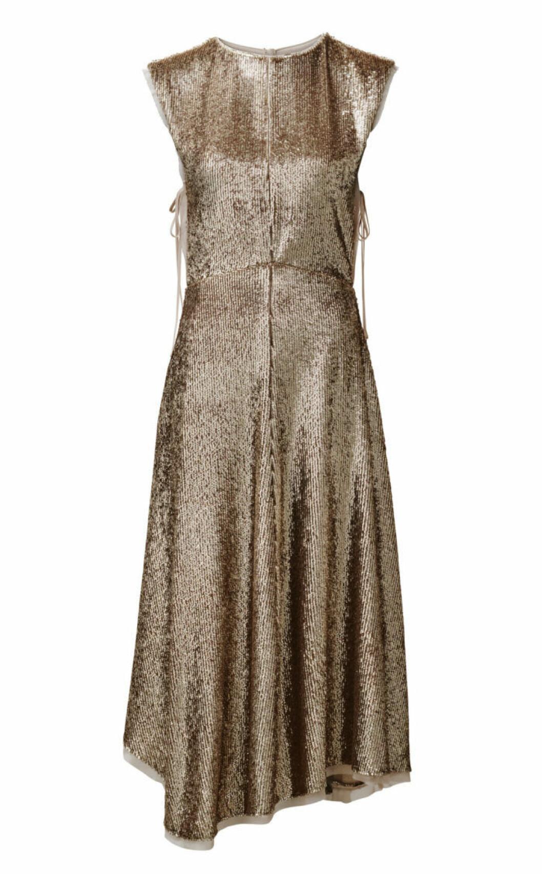 H&M Conscious Exclusive 2019 guldfärgad klänning