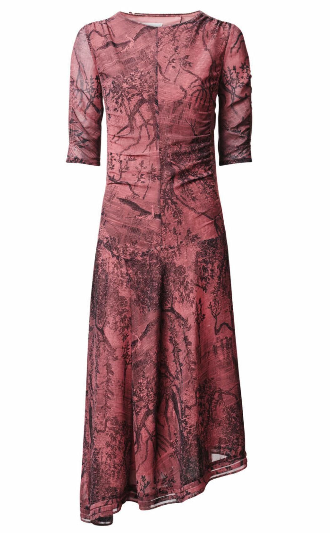 H&M Conscious Exclusive 2019 röd klänning med trekvartsärm