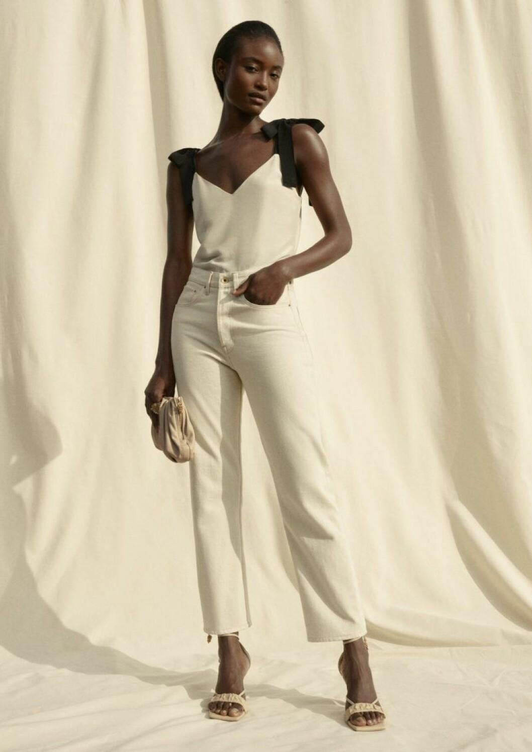 H&M conscious exclusive SS20 beige topp och byxor