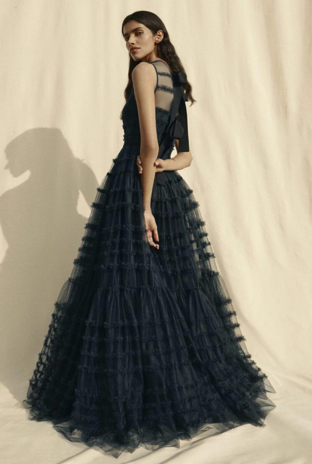 H&M conscious exclusive SS20 blå maxiklänning med tyll