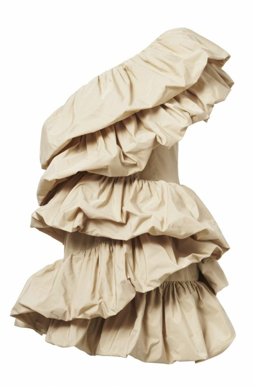 H&M Conscious Exclusive beige klänning