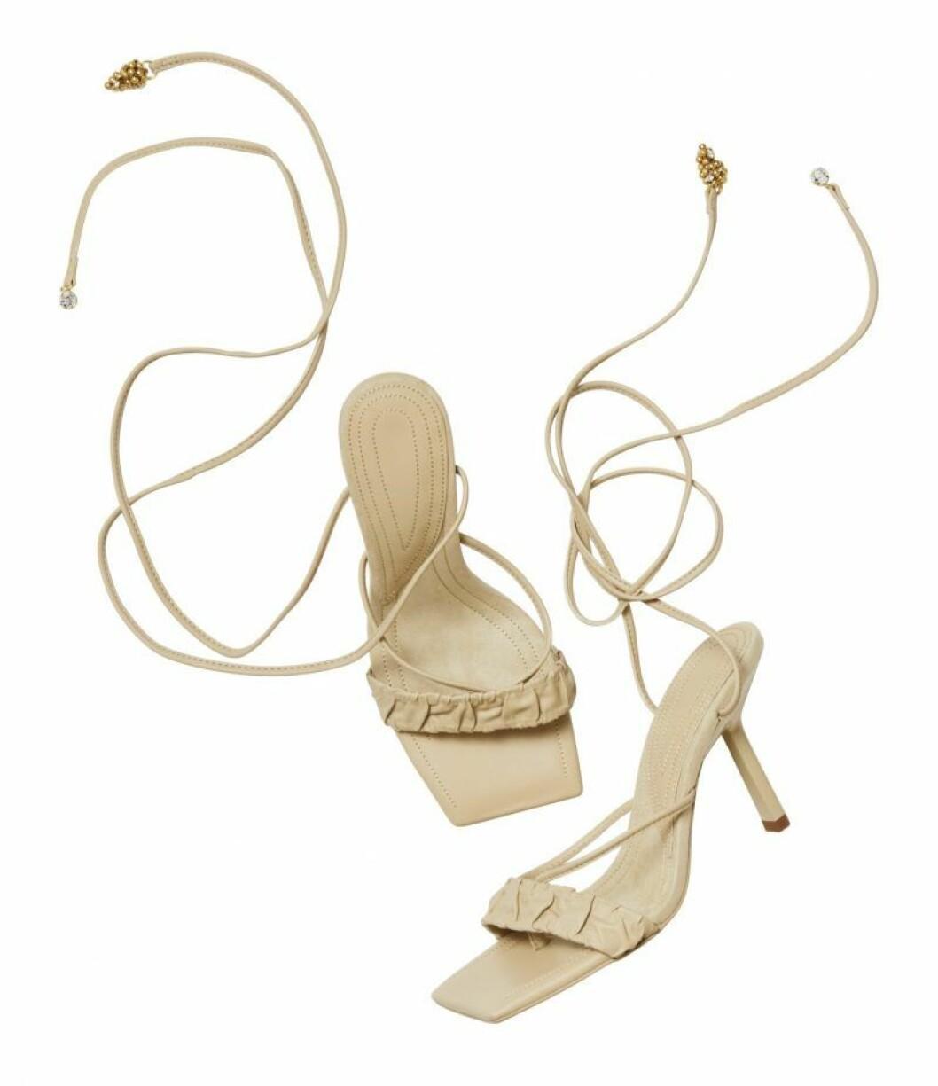 H&M Conscious Exclusive beige sandaler