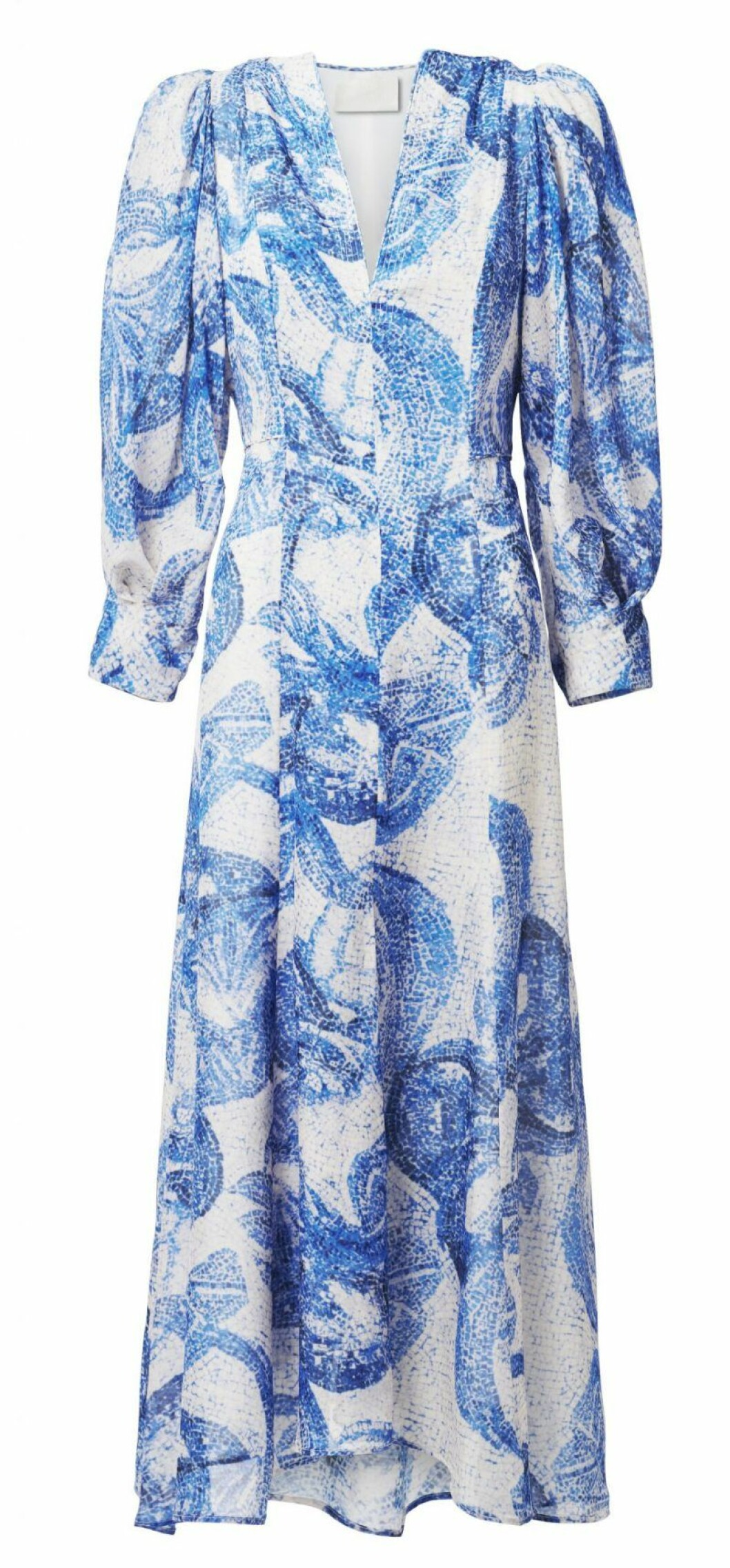 H&M Conscious Exclusive blåvit klänning