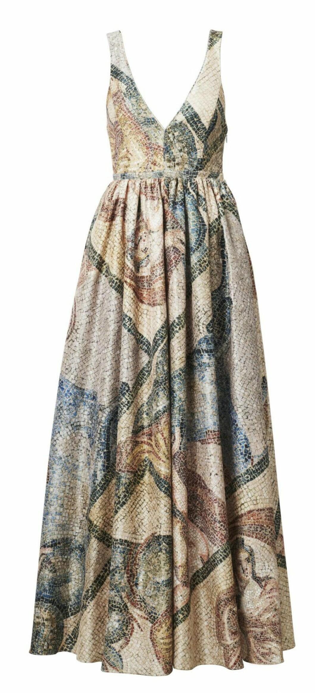 H&M Conscious Exclusive SS20 klänning mönstrad