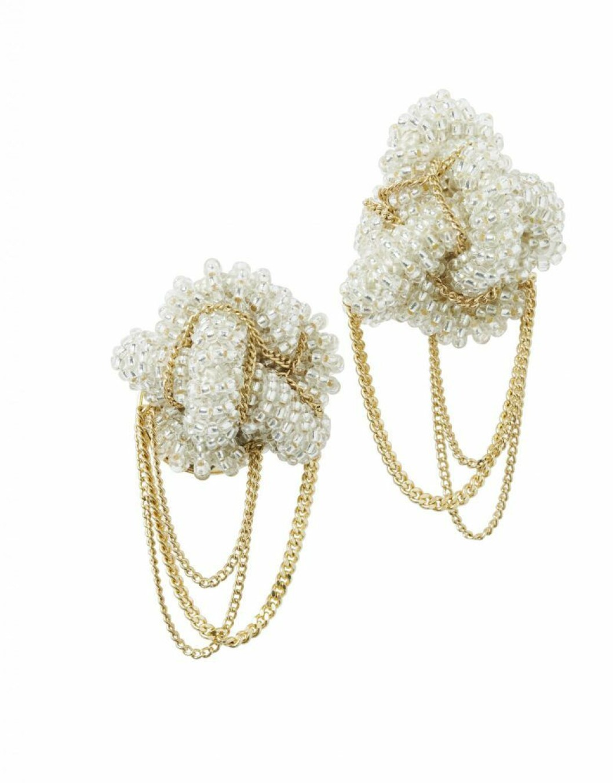 H&M Conscious Exclusive SS20 örhängen med pärlor och guldfärg