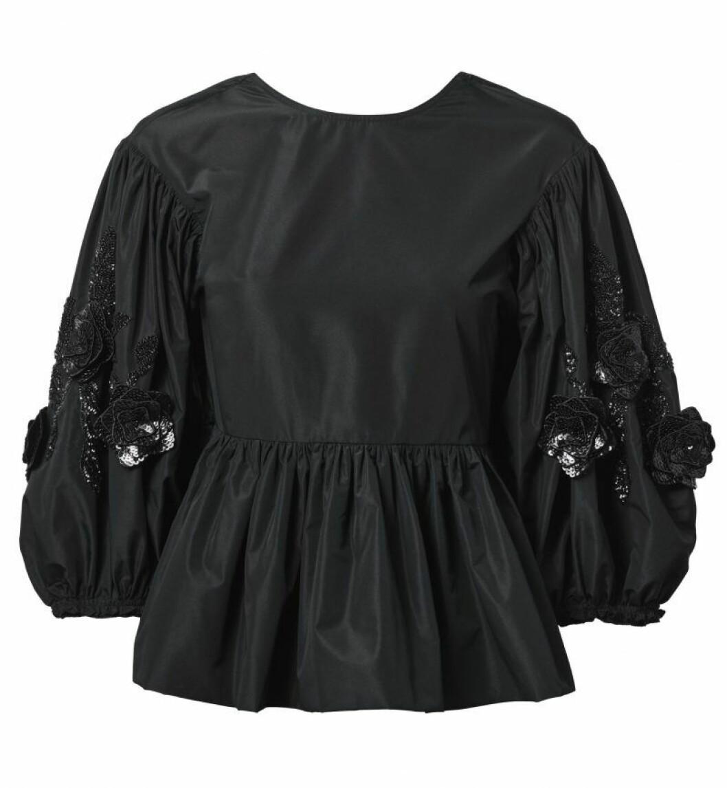 H&M Conscious Exclusive SS20 svart blus
