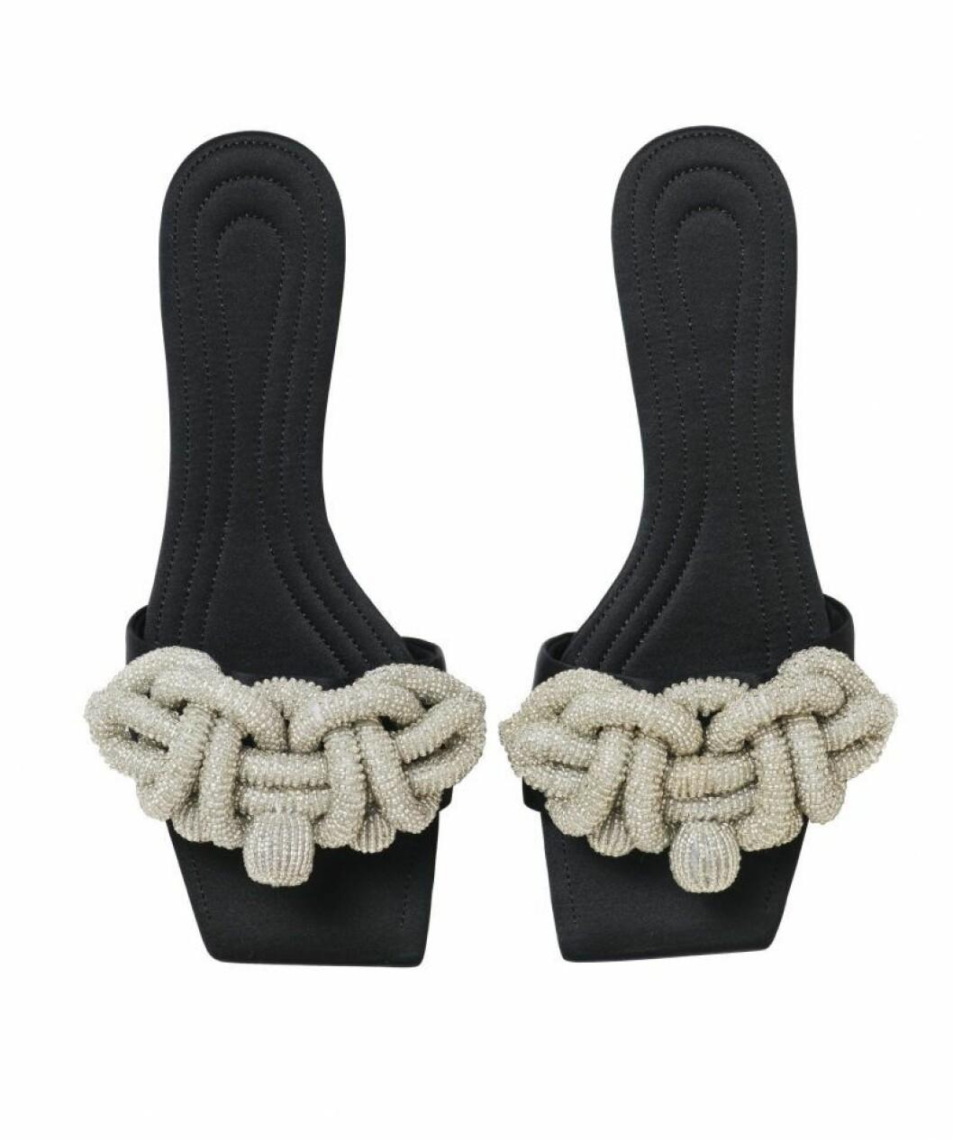 H&M Conscious Exclusive SS20 svarta sandaler