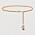 Ett kedjeskärp med präglade metallänkar som även kan användas som ett halsband. Skärpet är tillverkat av återvunnen zink och mässing. Från H&M Conscious exclusive.