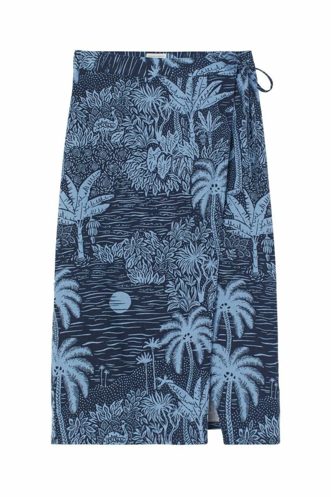 H&M x Desmond & Dempsey sommarkollektion 2020: blå kjol