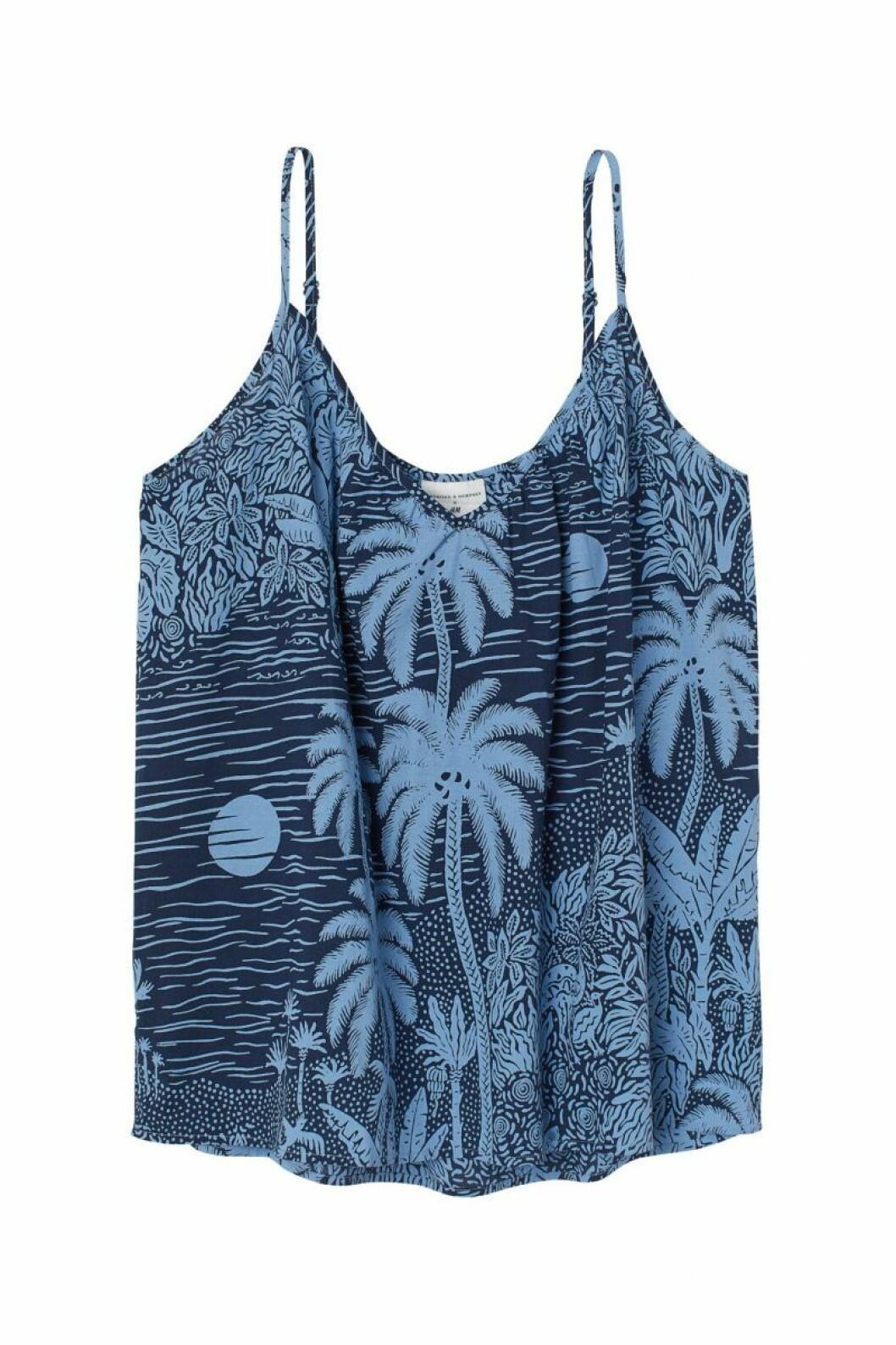 H&M x Desmond & Dempsey sommarkollektion 2020: blått linne