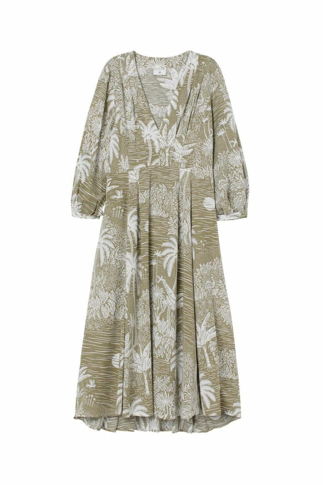H&M x Desmond & Dempsey sommarkollektion 2020: ljus mönstrad klänning