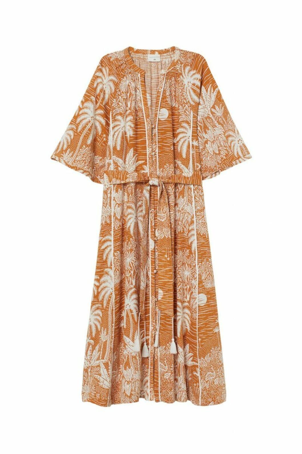 H&M x Desmond & Dempsey sommarkollektion 2020: orange kaftan